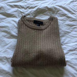 forever 21 light brown ribbed sweater